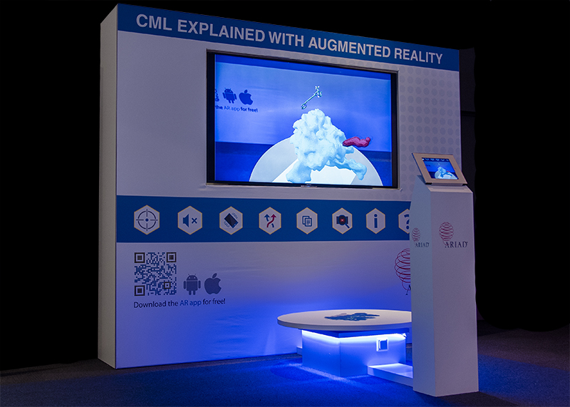 Augmented Reality beurs stand voor Ariad pharmaceuticals