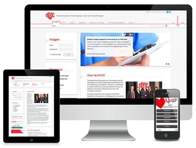 website re-design en mobiele congres website