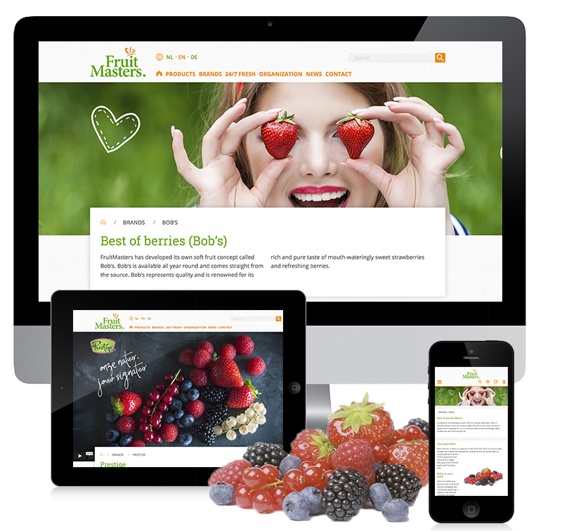Corporate design website FruitMasters
