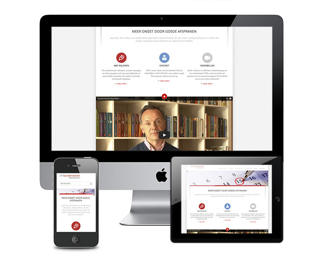 Responsive WordPress website voor Spraakmakende resultaten