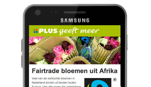 Mobiele websites voor Plus Retail