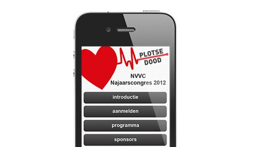 NVVC Mobiele congres website