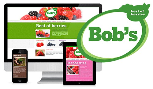 Responsive webdesign voor BOB: Best of Berries
