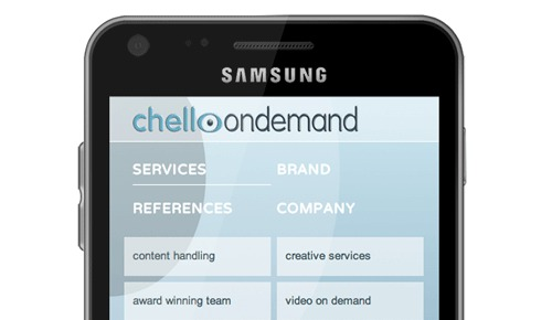 Responsive website voor Chello