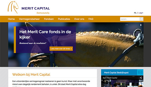 Maartwerk responsive website design en beheer voor Merit Capital