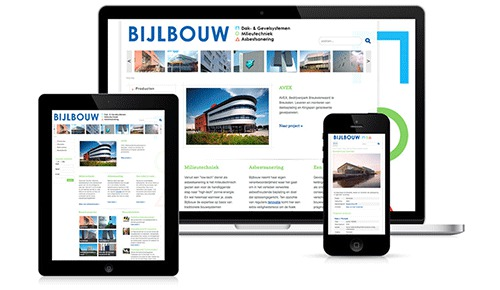 Website re-design en mobiele website voor Bijlbouw